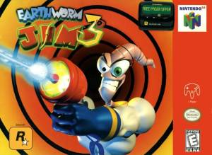 Earthworm Jim 3D cover art © Nintendo, Rockstar (source)