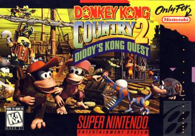 Donkey Kong Country 2 cover art © Nintendo, Rare