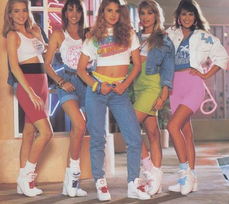 e408ae579 Totally 80s  Spandex shorts and T-shirts – Recollections of Play