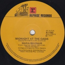"""Midnight at the Oasis"" - Marai Mulduar (A-side to ""Any Old Time."")"