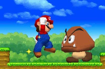 Giant goomba? No problem with gianter Mario!