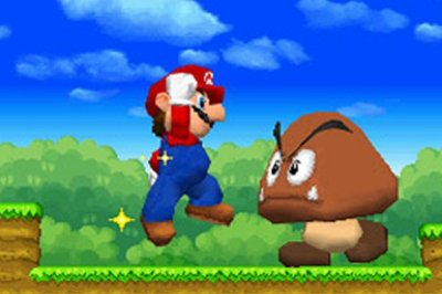 Giant goomba? No problem with gianter Mario!