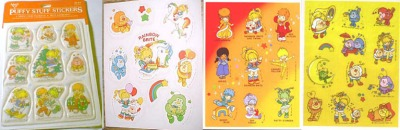 OMG -- puffy Rainbow Brite stickers!  Squeeee! They're PUFFY!