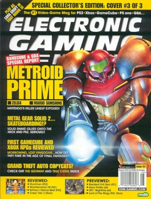 Long story, long: As much as I wanted to include a picture of my setup here, I had to dismantle it recently because my office is also the guest room. Sadly, it remains dismantled, so please enjoy this rocking cover of EGM (August 2002).