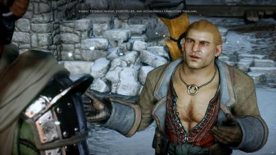 I most looked forward to getting to know Varric, and even his discussions felt hollow.