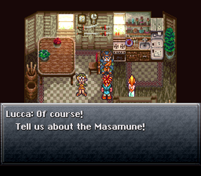 I love how Lucca gets straight to the point. No messing around!