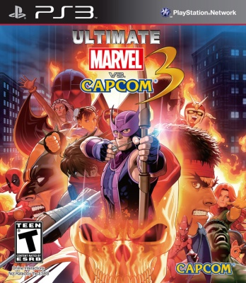 Ultimate Marvel vs. Capcom 3 cover art © Capcom, Sony
